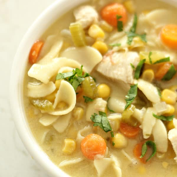 Slow Cooker Chicken Noodle Soup from SixSistersStuff