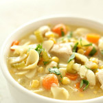 Slow Cooker Chicken Noodle Soup on SixSistersStuff