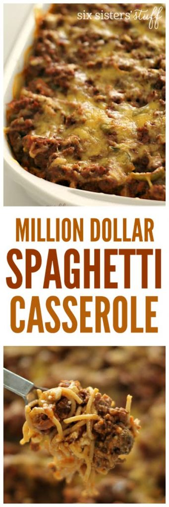 Million Dollar Spaghetti Cassrole from SixSistersStuff