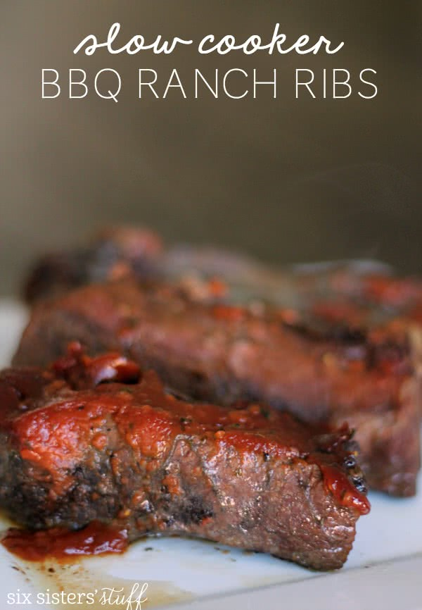 Slow Cooker BBQ Ranch Ribs Recipe