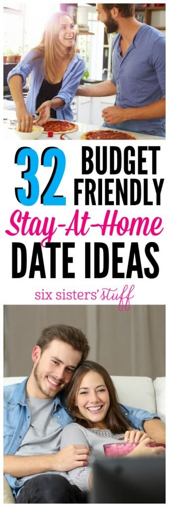 32 Stay at Home Date Ideas on SixSistersStuff.com