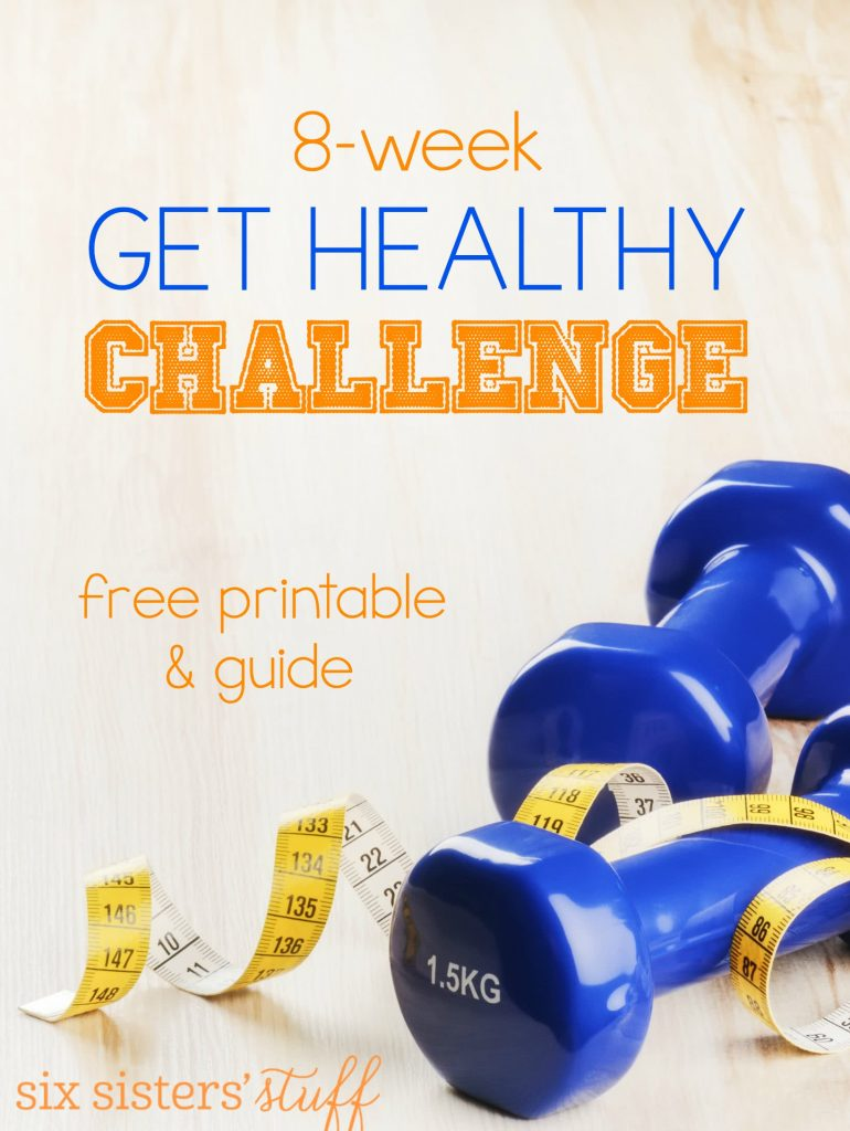8 Week Printable Weight Loss Get Healthy Challenge