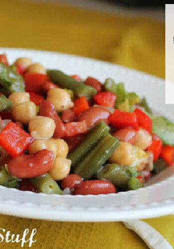 Fast three bean salad