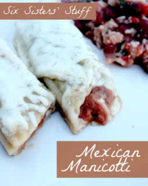 Low Fat Mexican Manicotti Recipe
