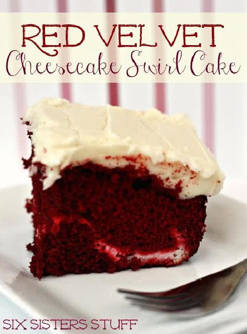 Red Velvet Cheesecake Swirl Cake Recipe