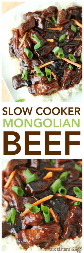 Slow Cooker Mongolian Beef - SixSistersStuff