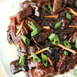 Slow Cooker Mongolian Beef on SixSistersStuff