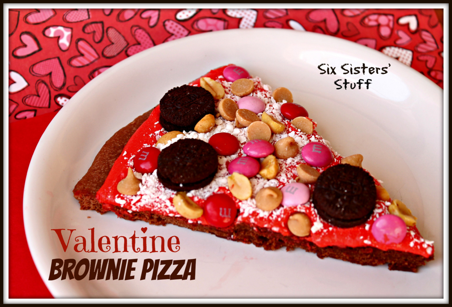 Valentine Brownie Pizza Recipe