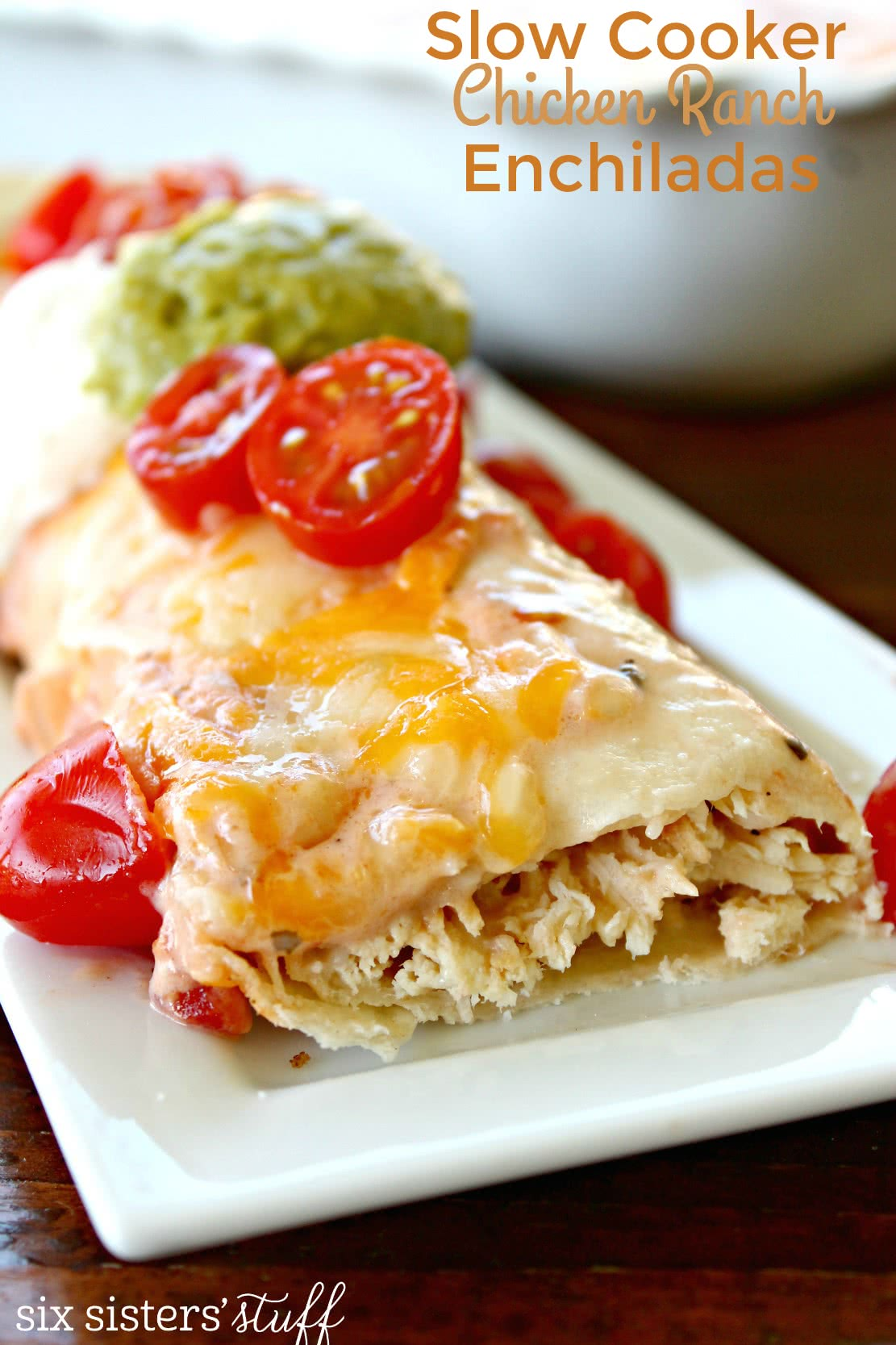 Slow Cooker Chicken Ranch Enchiladas Recipe
