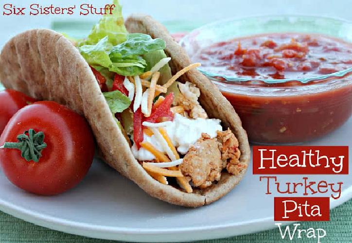 Healthy Turkey Pita Wrap Recipe