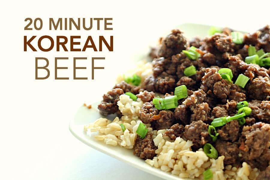 Korean Beef - SixSistersStuff