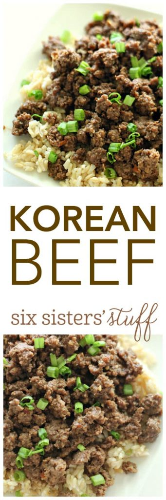 Korean Beef from SixSistersStuff