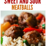 sweet and sour meatballs in crockpot