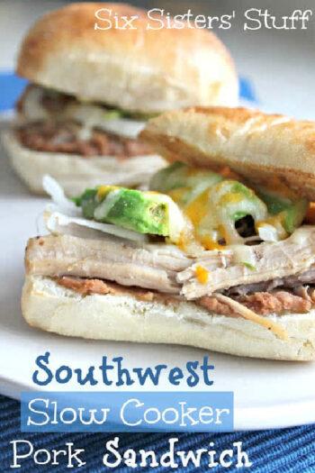 southwest slow cooker pork sandwich