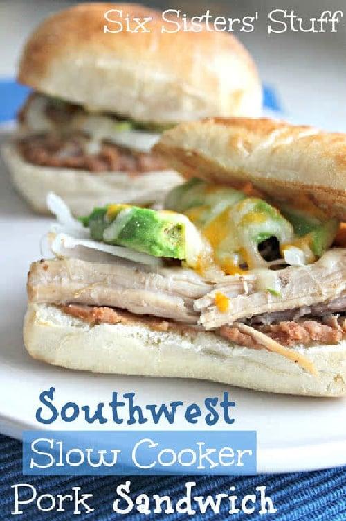Southwest Slow Cooker Pork Sandwich Recipe