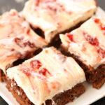 Strawberry cream cheese fudgy brownies