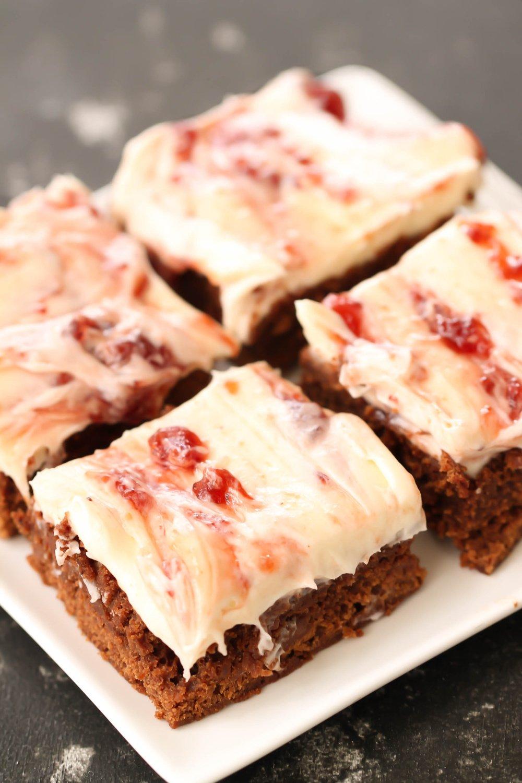 Strawberry Cream Cheese Fudgy Brownies Recipe