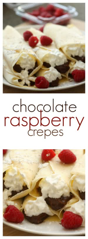 Pinterest Chocolate Raspberry Crepes