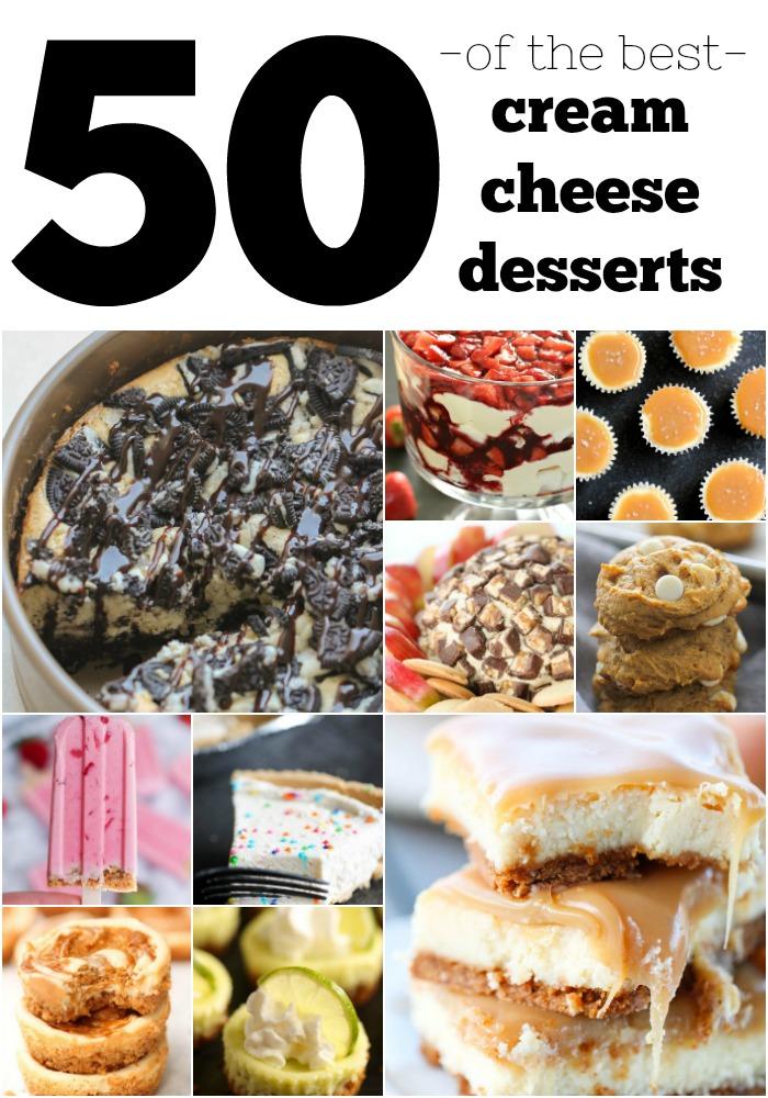 50 Cream Cheese Desserts