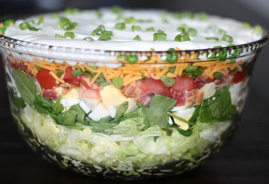 Layered Green Salad Recipe