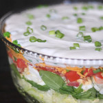 Layered Green Salad from SixSistersStuff.com