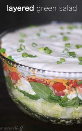 Layered Cobb Salad | Six Sisters' Stuff