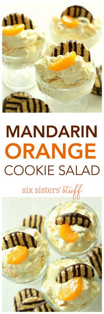 Mandarin Orange Cookie Salad from SixSistersStuff