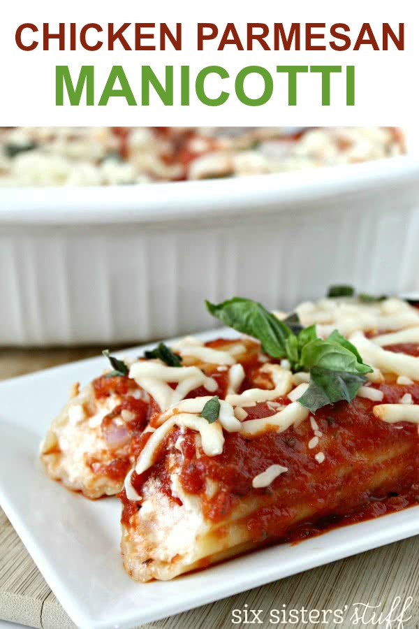 chicken manicotti on serving dish