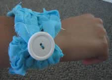 Fabric Scrap Rope Bracelet