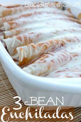 3 Bean Enchiladas