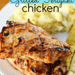 grilled chicken teriyaki on plate