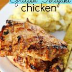 grilled chicken teriyaki on plate