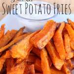 baked sweet potato fries with dipping sauce