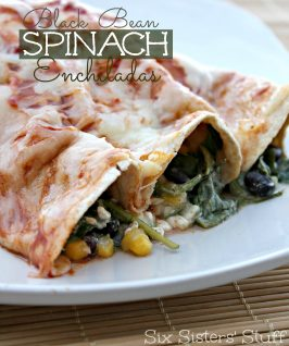 Healthy Black Bean Spinach Enchiladas