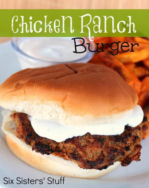 Chicken Ranch Burgers Recipe
