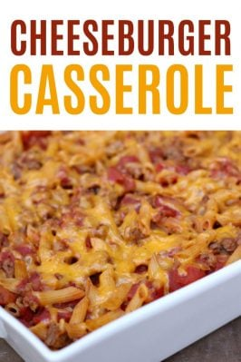 hamburger casserole that tastes like a cheeseburger!