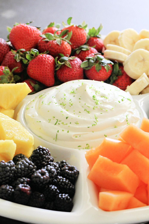Creamy Lime Yogurt Fruit Dip (Only 3 Ingredients) Recipe