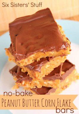 No-Bake Peanut Butter Corn Flake Bars Recipe