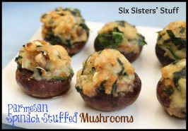 Parmesan Spinach Stuffed Mushrooms