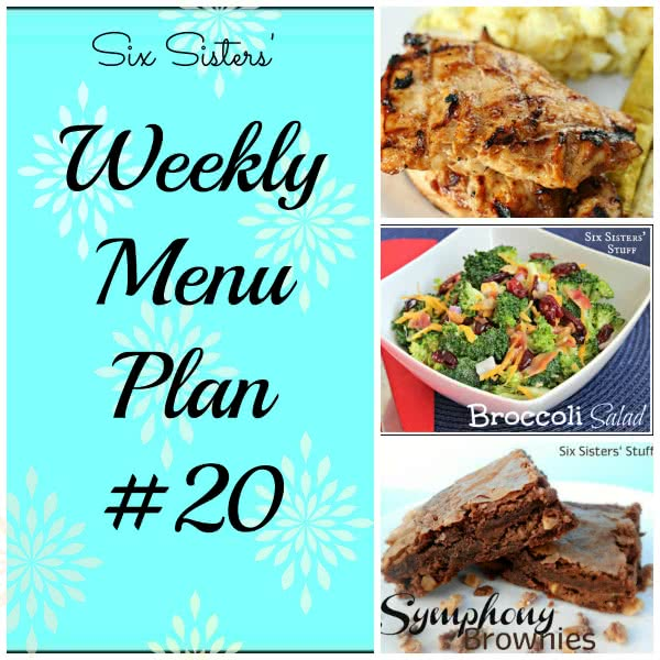 Six Sisters' Weekly Menu Plan #20
