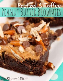 Pretzel and Toffee Peanut Butter Brownies Recipe