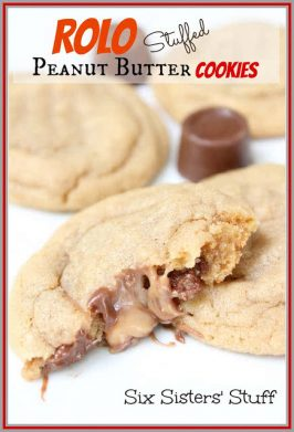 Rolo Stuffed Peanut Butter Cookies