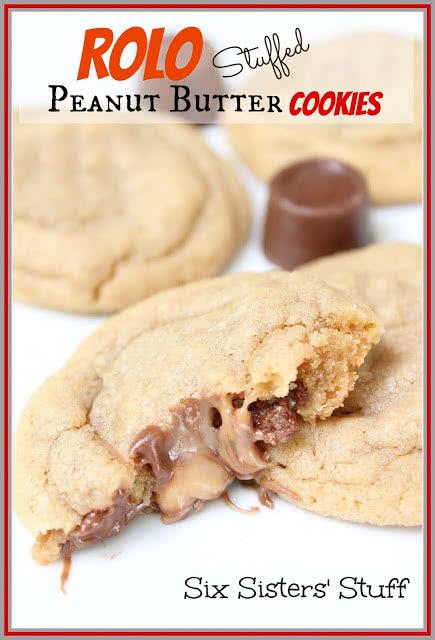 Rolo Stuffed Peanut Butter Cookies Recipe