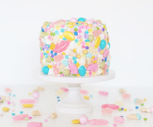 I Love This Idea For Your Childs Birthday Simply Cover The Cake In Their Favorite Candies And If You Want A Cute Stand Check Out One
