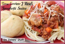 Slow Cooker 2 Meat Spaghetti Sauce