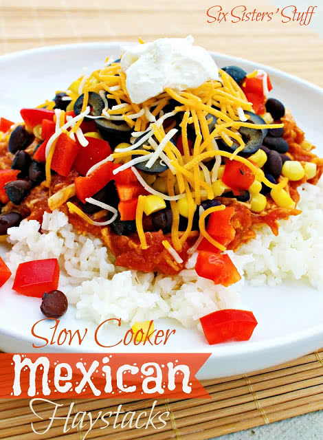 Slow Cooker Mexican Haystacks