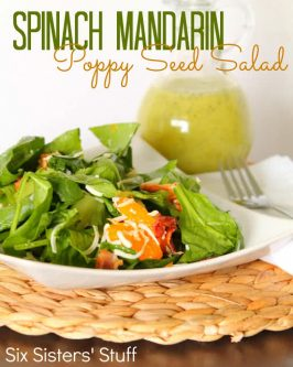 Spinach Mandarin Poppy Seed Salad Recipe