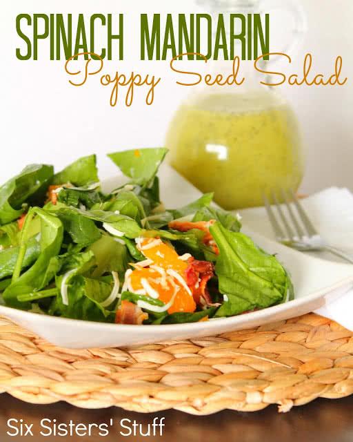 Spinach Mandarin Poppy Seed Salad Recipe