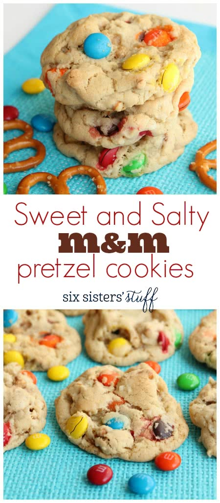 Sweet and Salty M&M Cookies 3