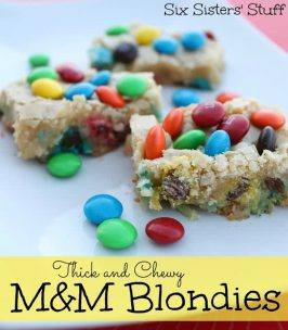 Thick and Chewy M&M Blondies